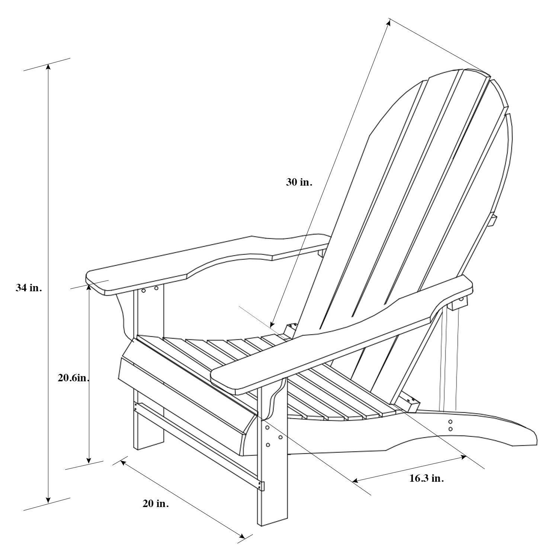 1500x1500 Songsen Fashion Outdoor Wood Adirondack Chairs
