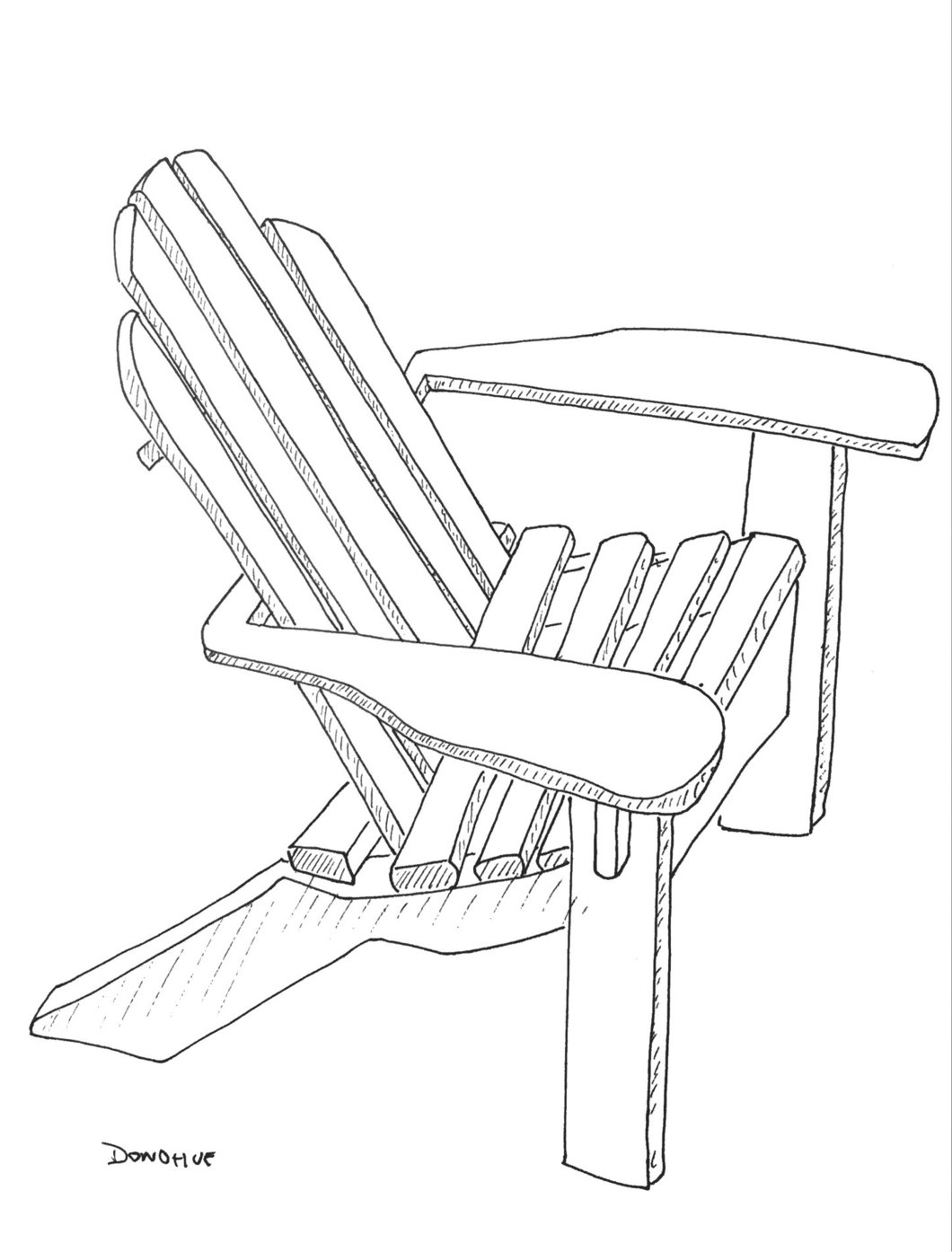 1060x1394 Fourth Of July, Adirondack Chair Drawing Donohue Number 1 Eat