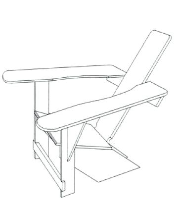 360x434 Adirondack Chair Drawing Plan Got The Plans In Long Ago Time