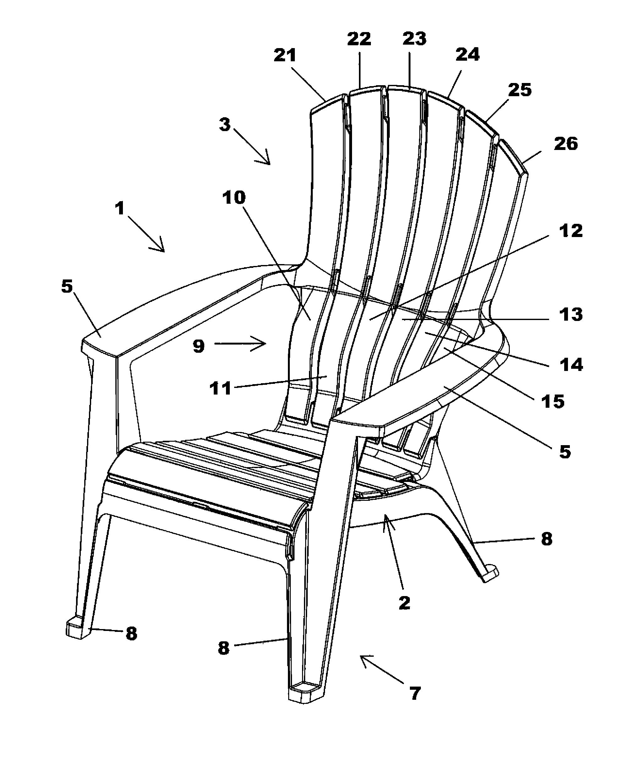 2033x2408 Adirondack Chair Drawing