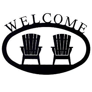 320x320 Adirondack Chairs Iron Welcome Sign From Modern Artisans