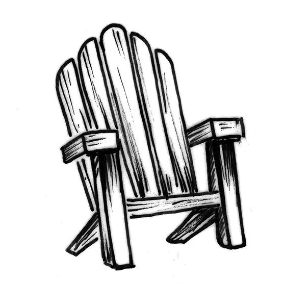 557x557 Adirondack Chair Sketch
