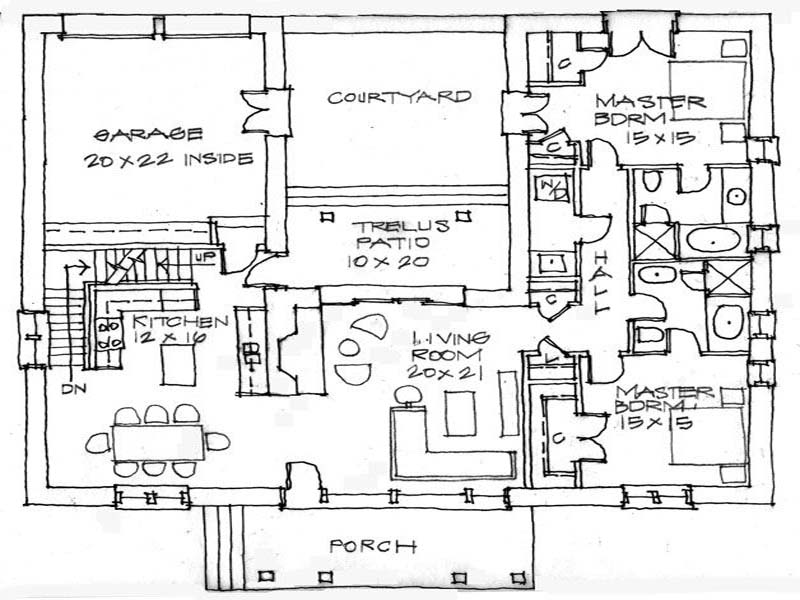 800x600 House Plans Adobe House Plans With Center Courtyard Adobe House