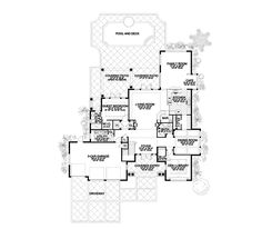 236x206 Sunbelt Home Plan Second Floor