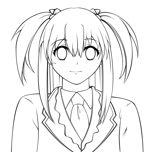 500x500 Creating A Vector Anime Character In Adobe Photoshop Part 1