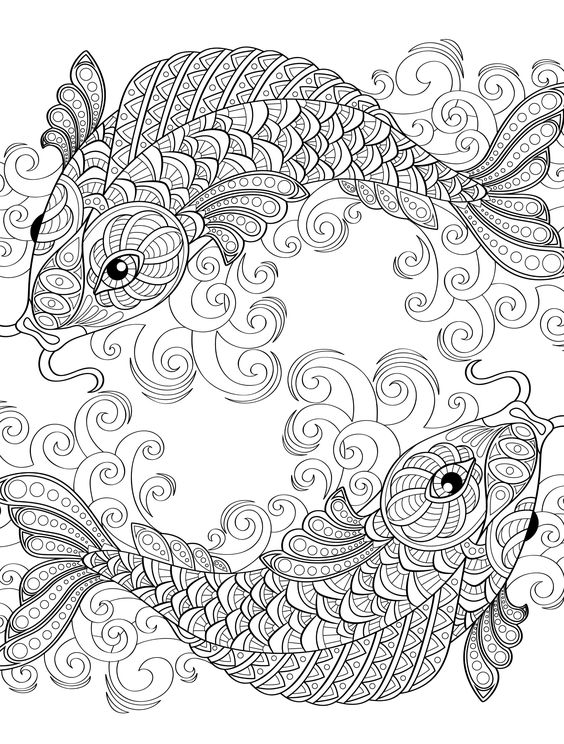 564x744 Fish Coloring Pages For Adults