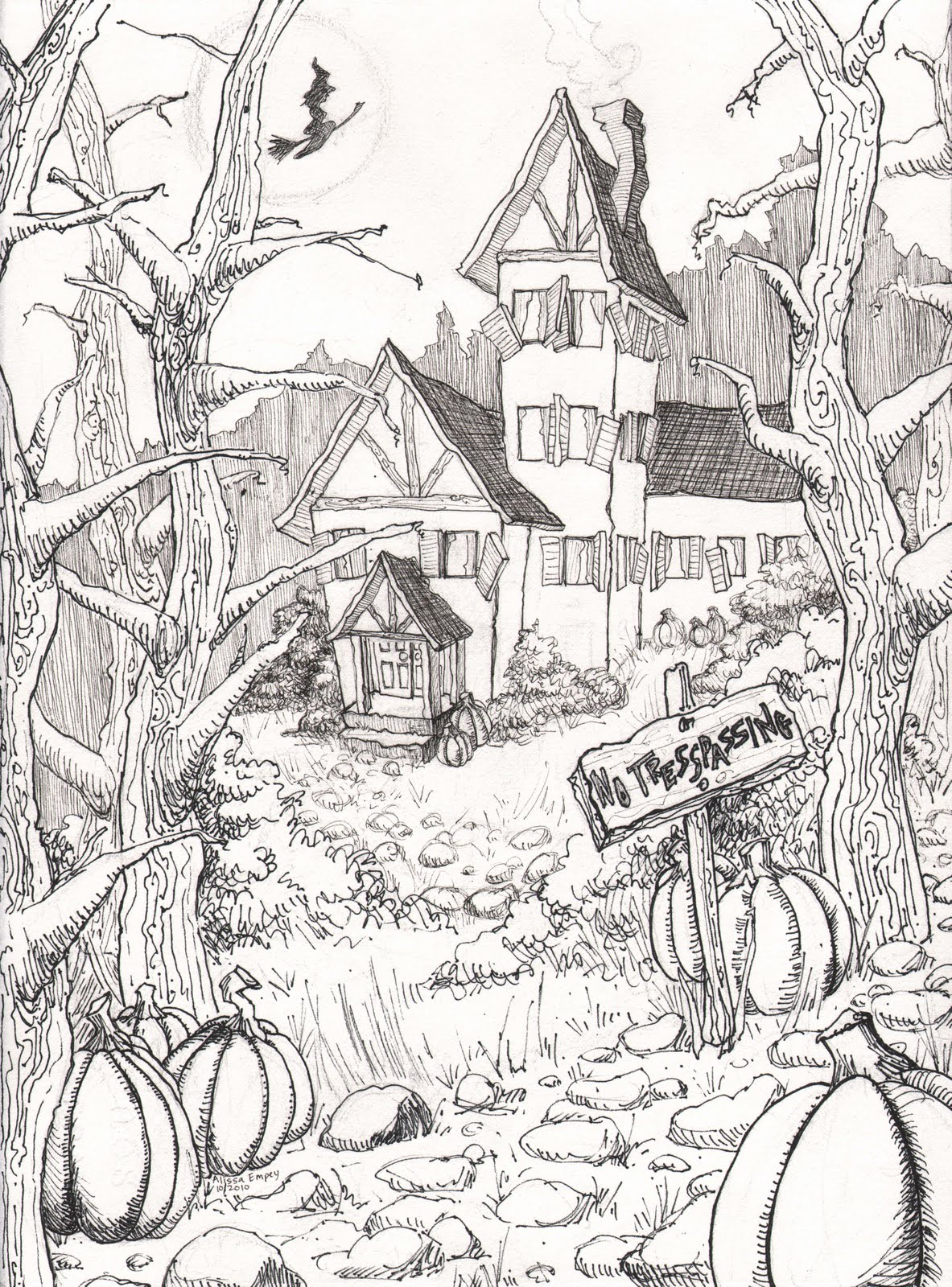 1183x1600 Halloween Coloring Pages Colouring Adult Detailed Advanced