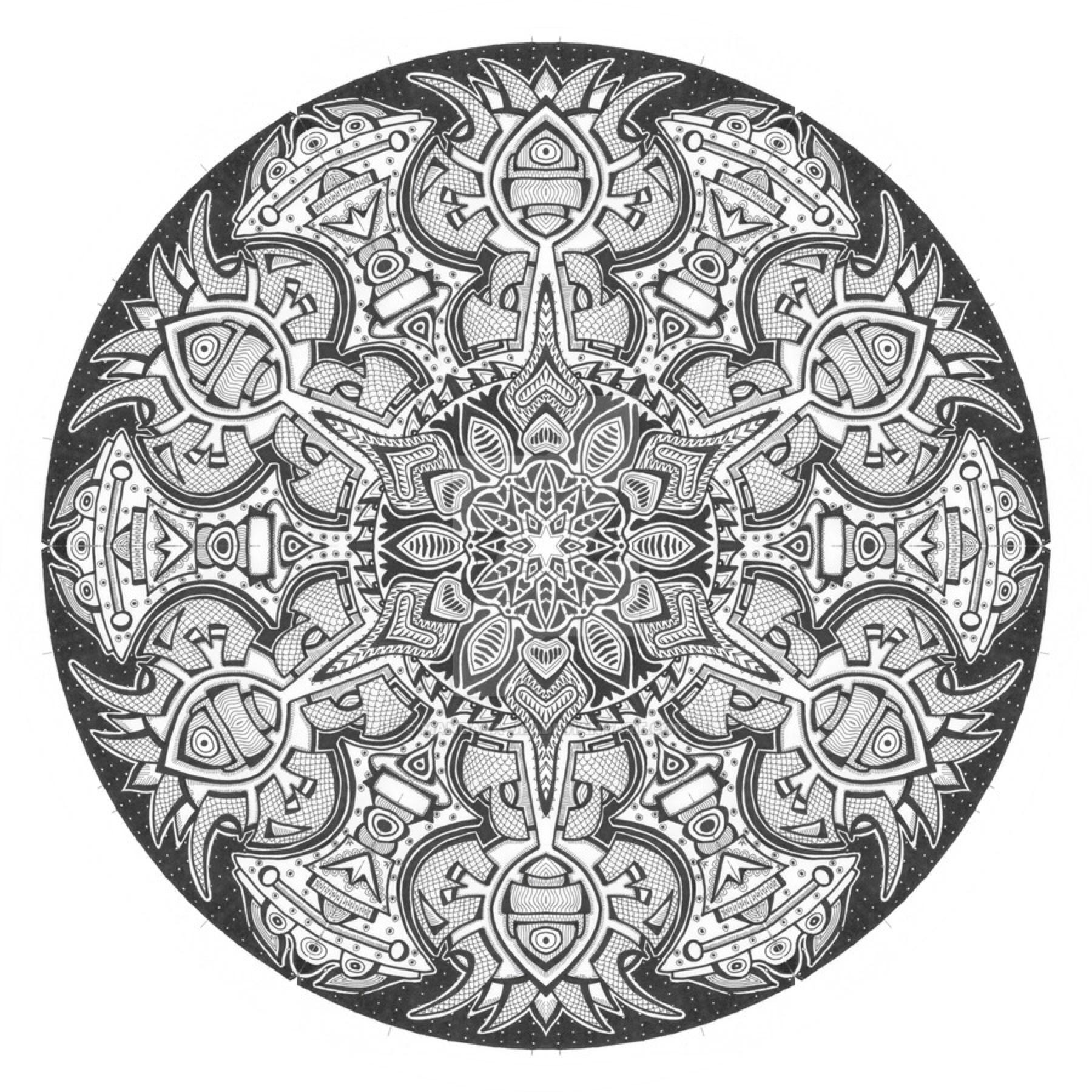 1800x1800 Mandala Drawing 1 By Mandala Jim On @ Mandala