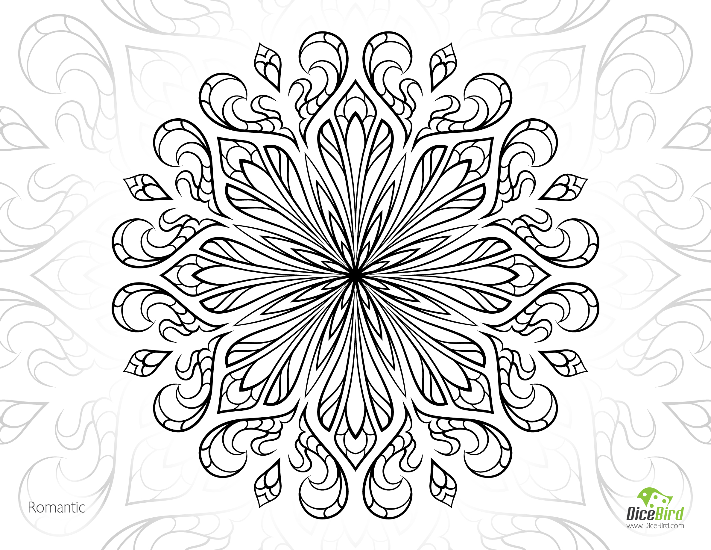 2376x1836 Free Printable Coloring Pages For Adults Advanced Romantic Flower