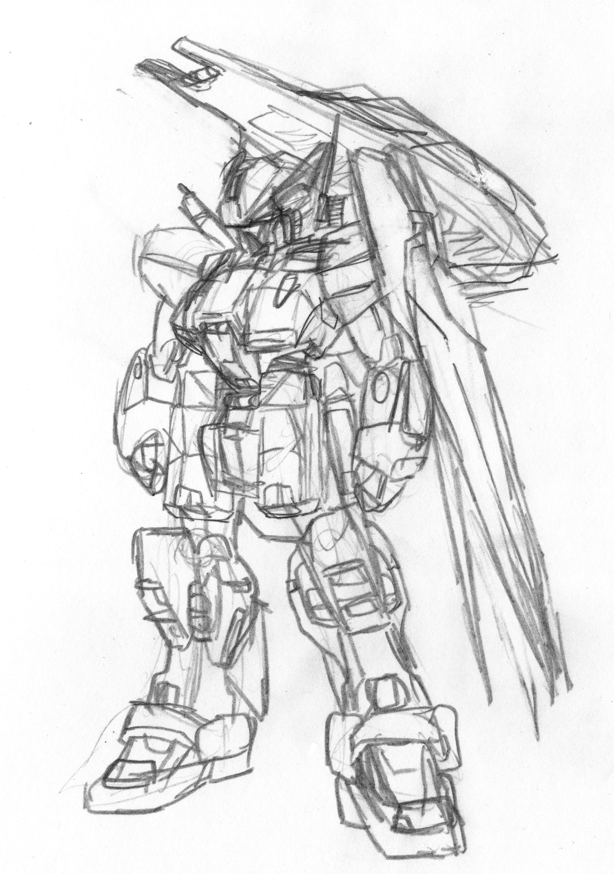 2000x2848 Advanced Hazel Custom Gunpla Sketch By Blayaden