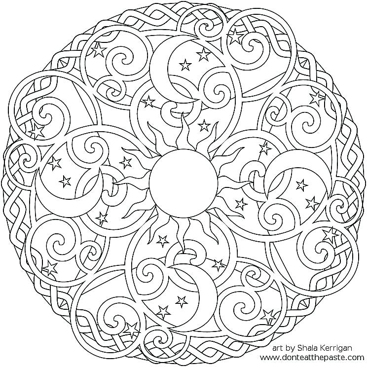 744x744 New Mandala Coloring Pages Online And Great Advanced Mandala