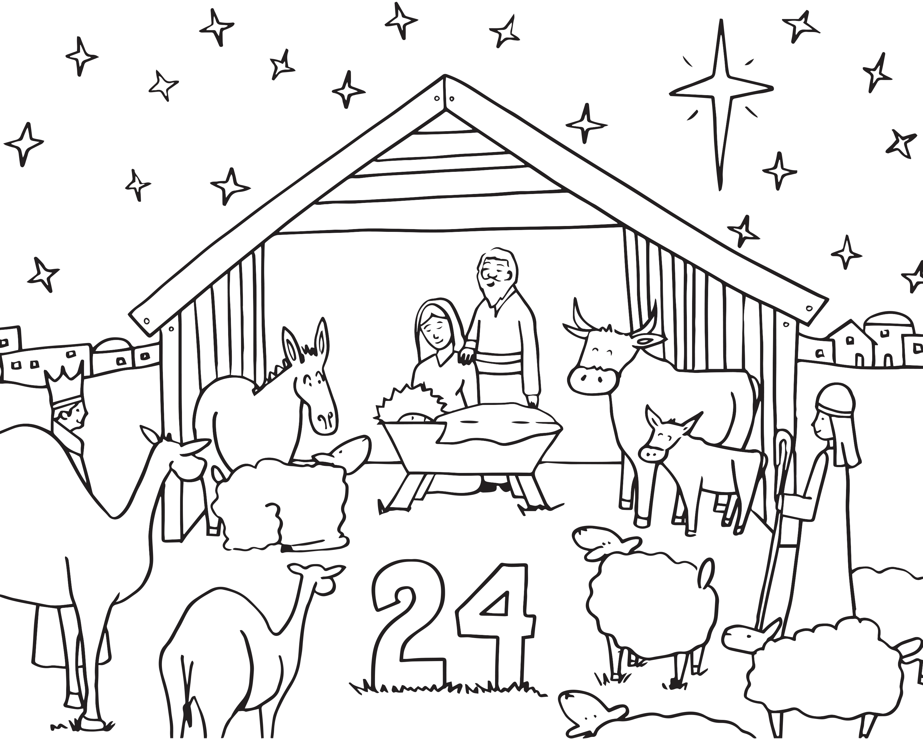 Advent Calendar Drawing at GetDrawings | Free download