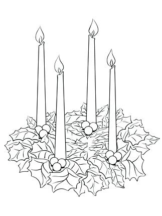 323x430 Advent Wreath Coloring Pages Click Advent Wreath Coloring Page