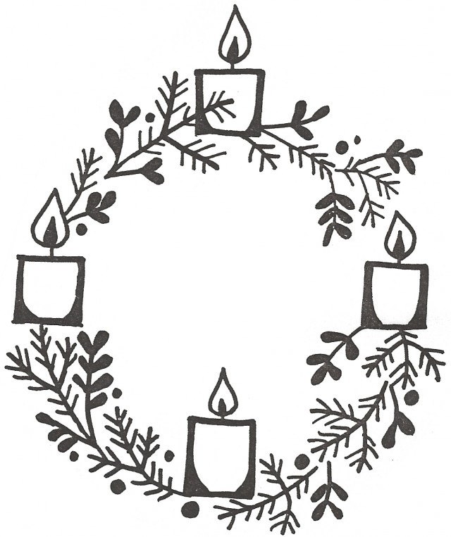 Advent Candles Drawing At Getdrawings Com