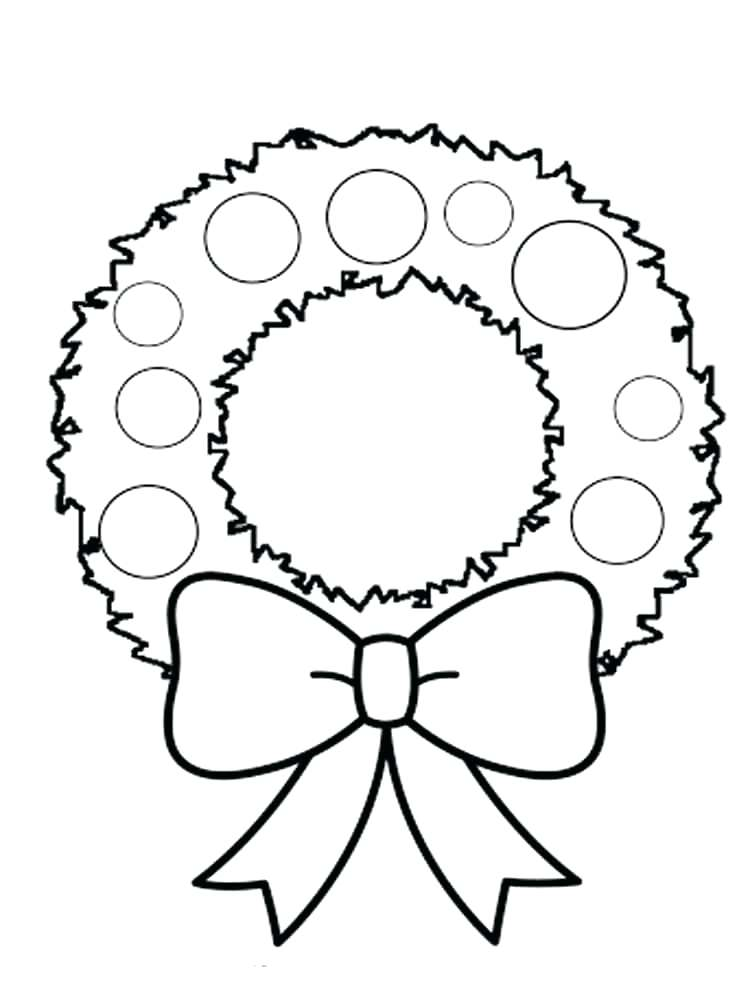 This is a graphic of Mesmerizing Wreath Coloring Pages