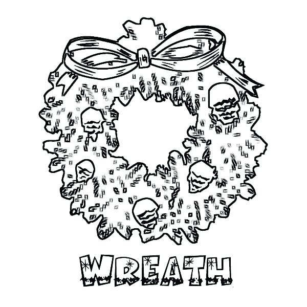 600x600 Christmas Wreath Coloring Page Gorgeous Wreath On Coloring Page