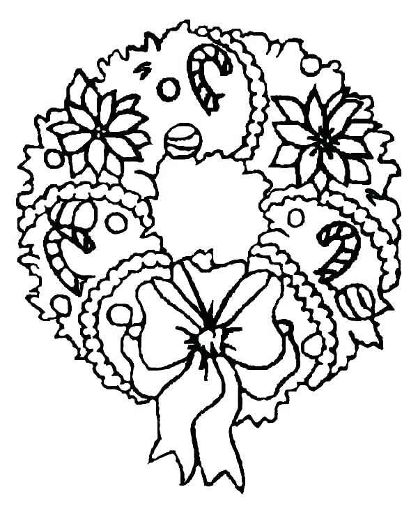 600x738 christmas wreath coloring pages wreath coloring page christmas