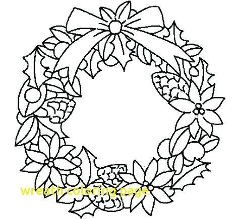 468x436 Wreath Coloring Page With Advent Wreath Coloring Page Coverdale