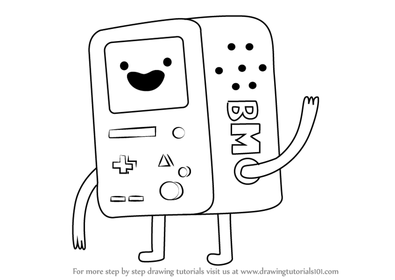 800x567 Learn How To Draw Bmo From Adventure Time (Adventure Time) Step By