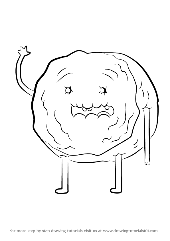 596x843 Learn How To Draw Cinnamon Bun From Adventure Time (Adventure Time