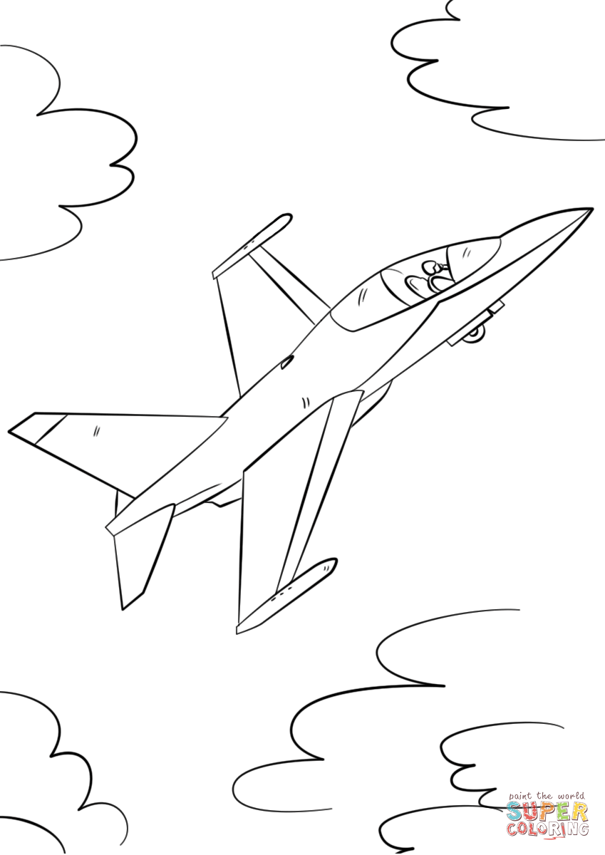 849x1200 Military Fighter Jet Coloring Page Free Printable Pages