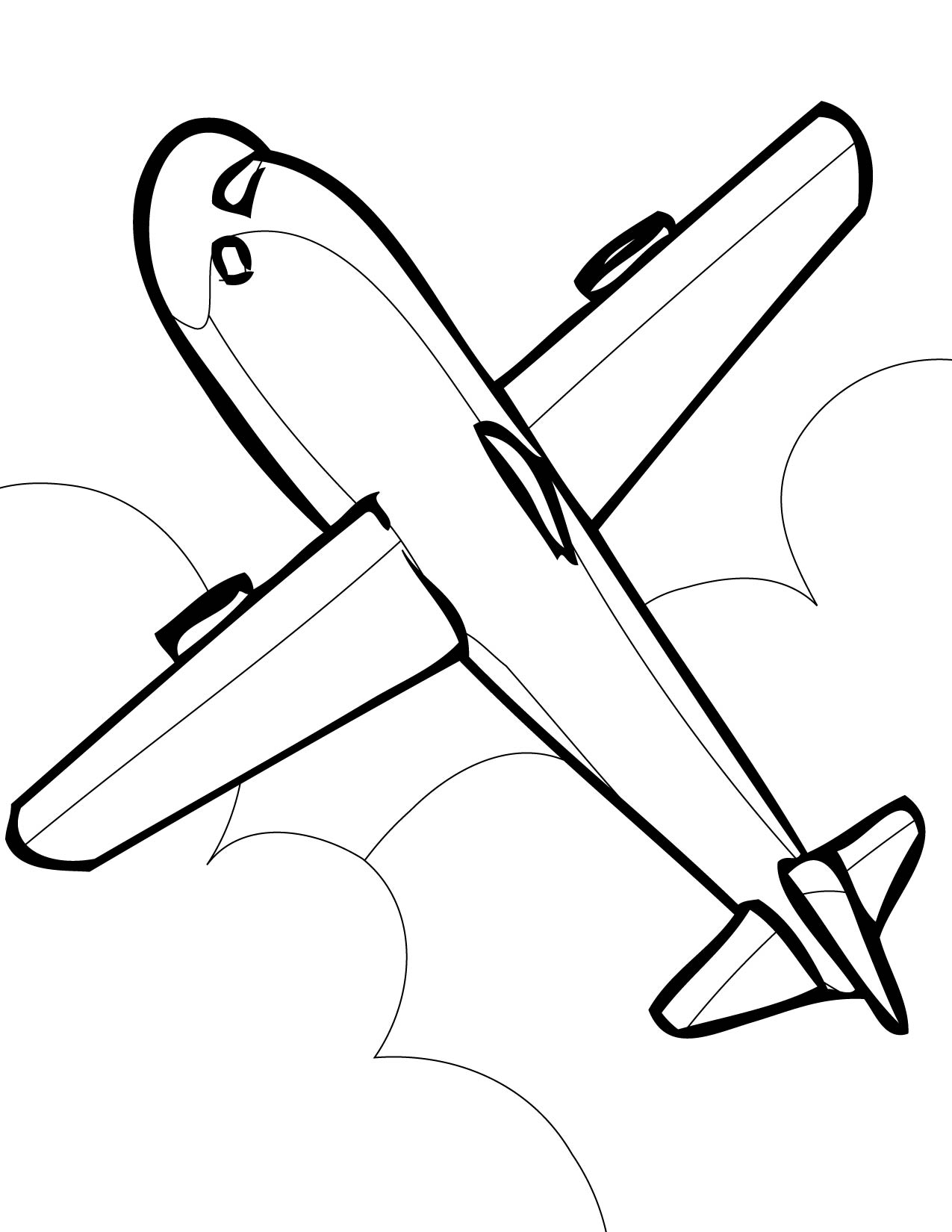 1275x1650 Plane Coloring Pages