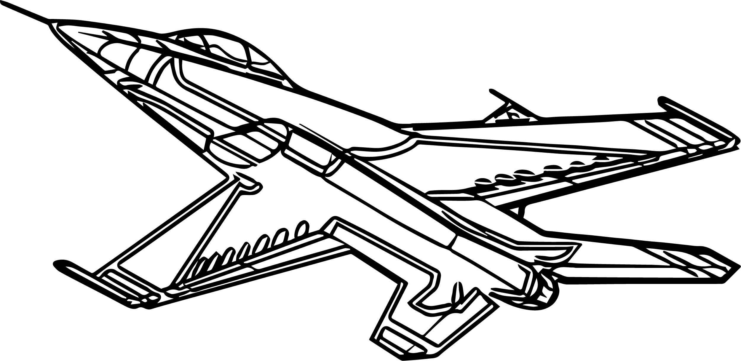 2500x1218 Airplane Coloring Pages Drawing Free Printable Kids For Preschool