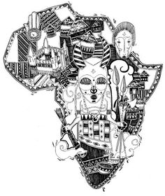 236x280 Free Coloring Page Coloring Adult Africa Abstract Symbols. Drawing