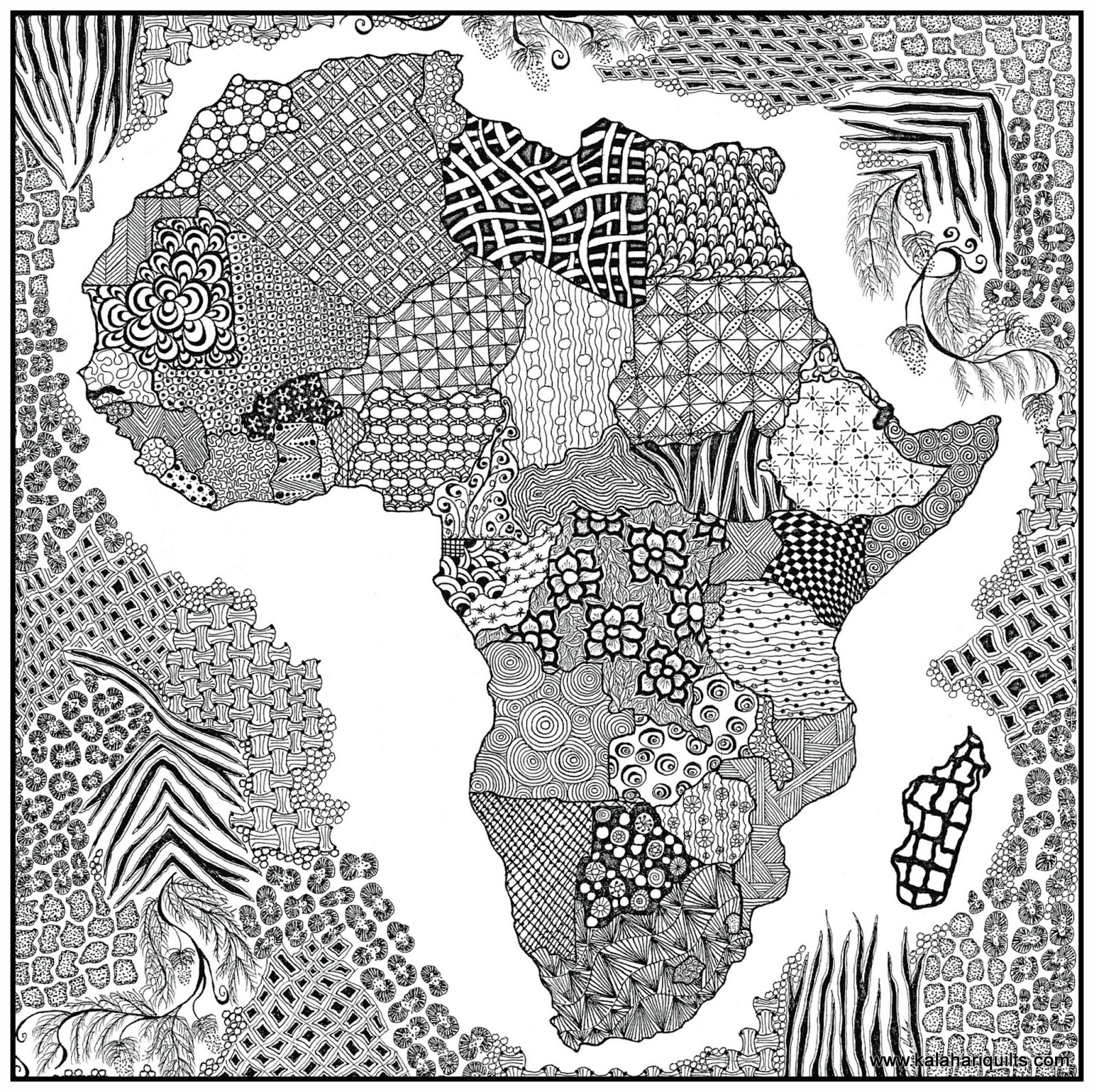 1600x1597 African Drawings