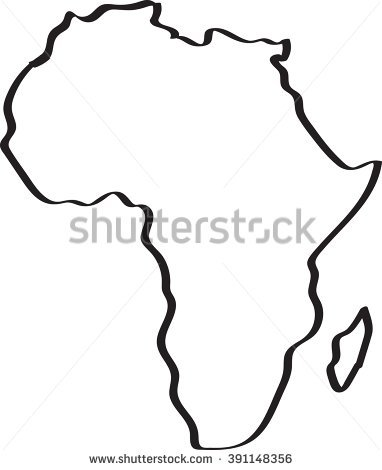 382x470 Africa Map Draw Africa Map Drawn