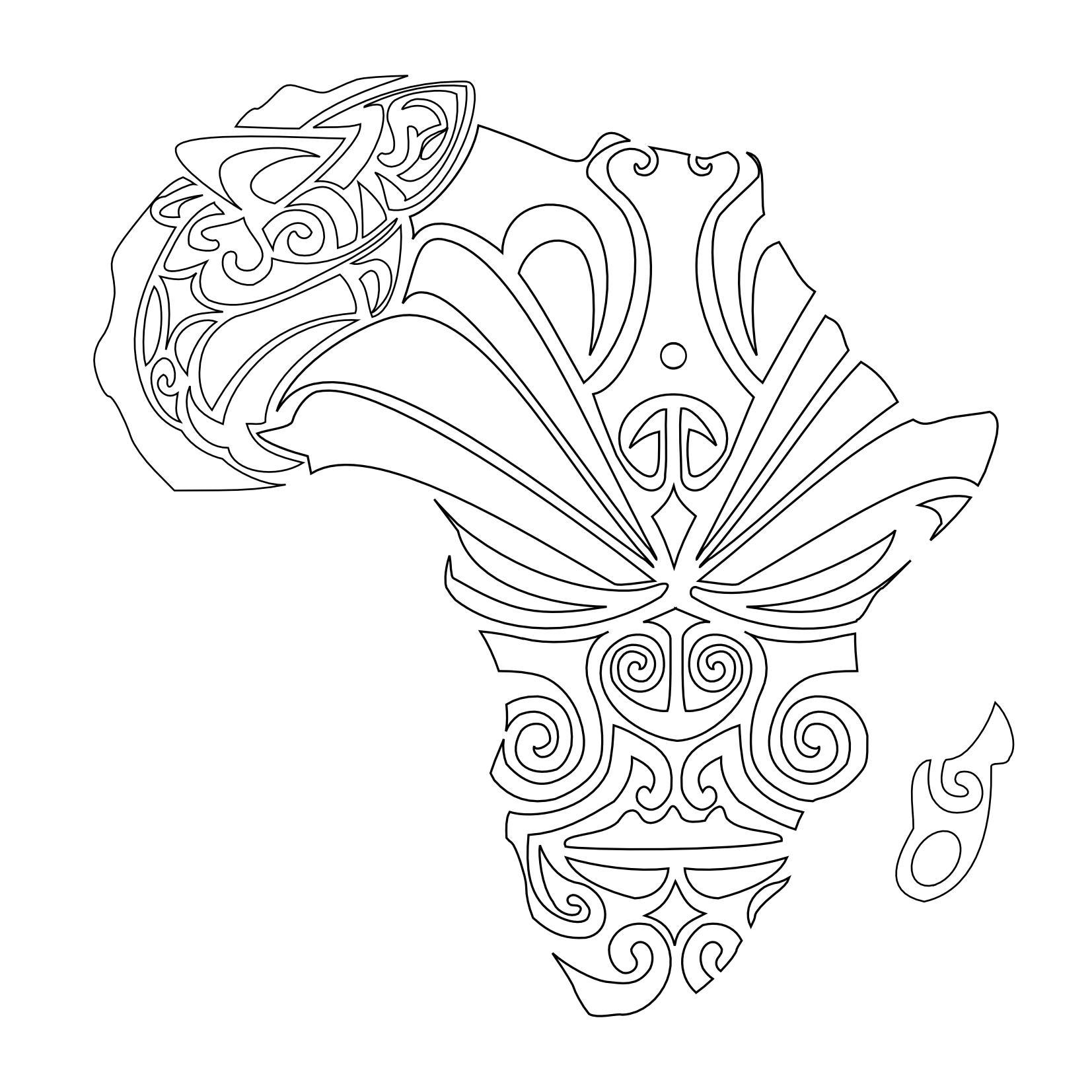 1653x1653 Best African Map Tattoo Design Eyal Map Tattoos