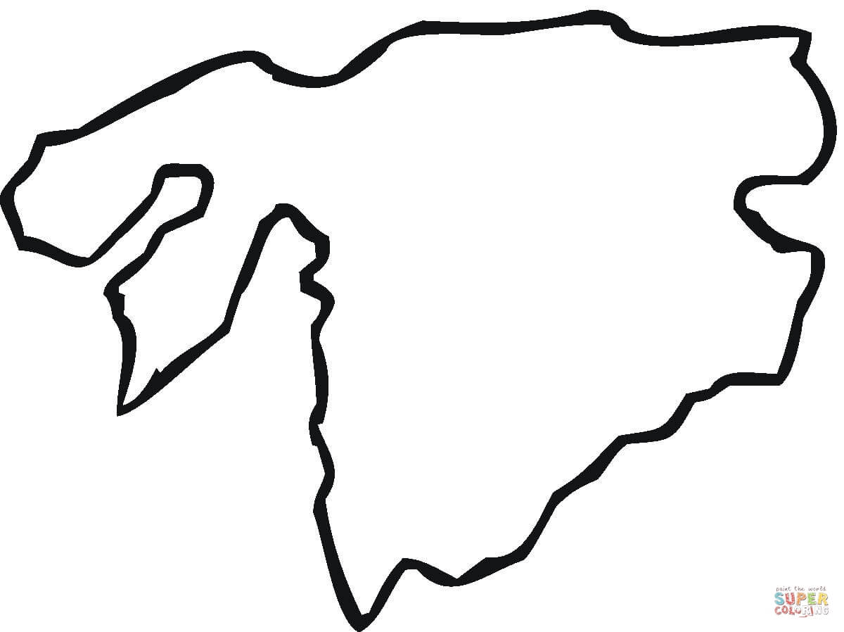 graphic relating to Free Printable Map of Africa named Africa Map Drawing at  Totally free for individual