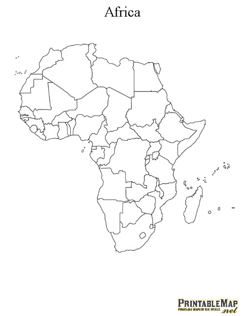 500x647 Printable Map Of Africa Continent Education Africa