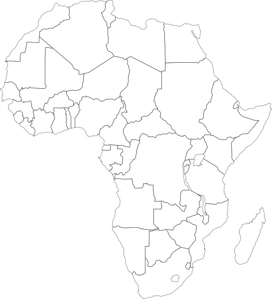 Africa map drawing at getdrawings free for personal use africa 546x600 africa political map clip art free vector in open office drawing ccuart Images