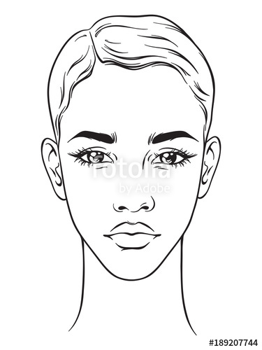 375x500 Beautiful African American Woman With Short Haircut Portrait