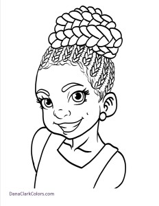 232x300 adorable coloring pages of little girls of color black is