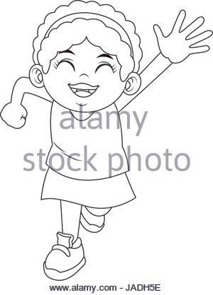 300x414 Cartoon African American Girl With Curly Hair Stock Vector Art