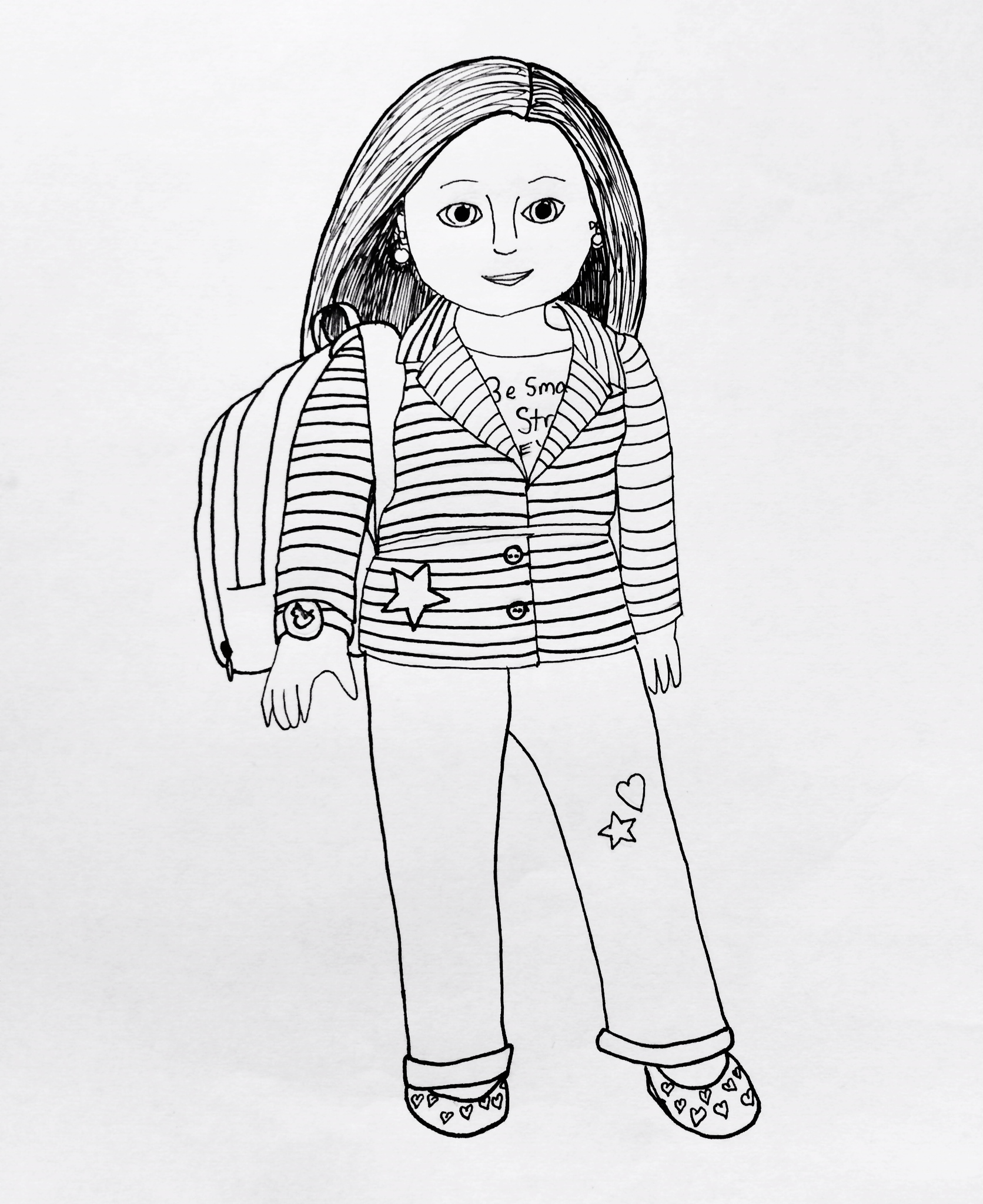 1672x2048 American Girl Doll Coloring Pages To Print
