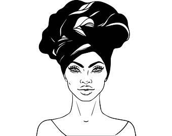340x270 Pink Afro Lady Art Etsy