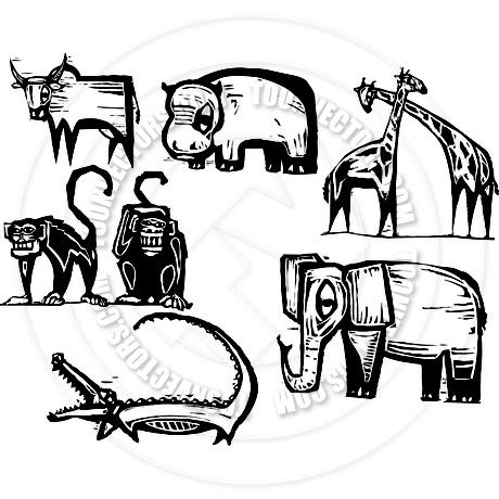 African Animals Drawing