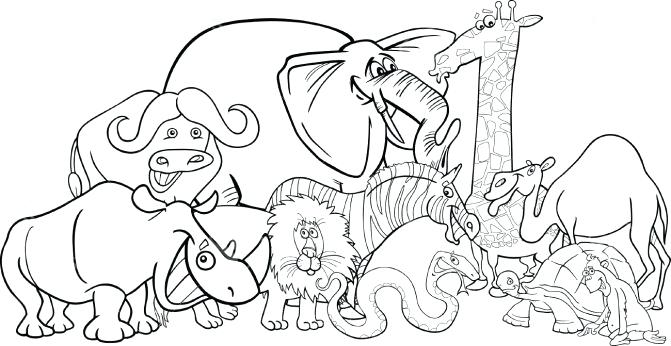 671x346 African Coloring Pages Free Printable Animal