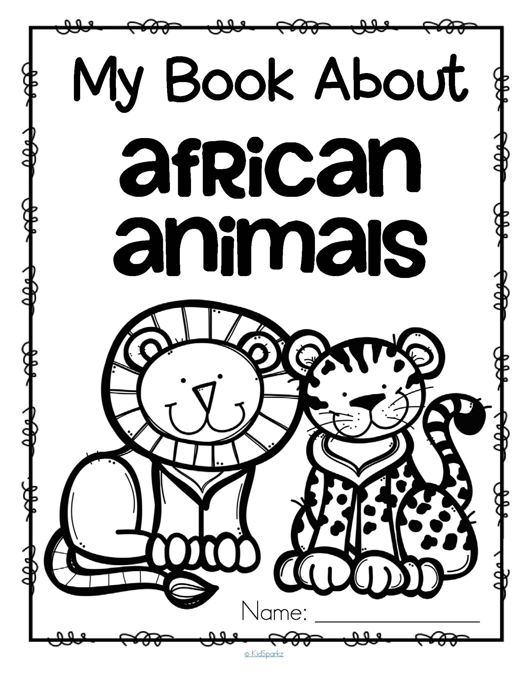 1700x2200 My Book About African Animals Activities