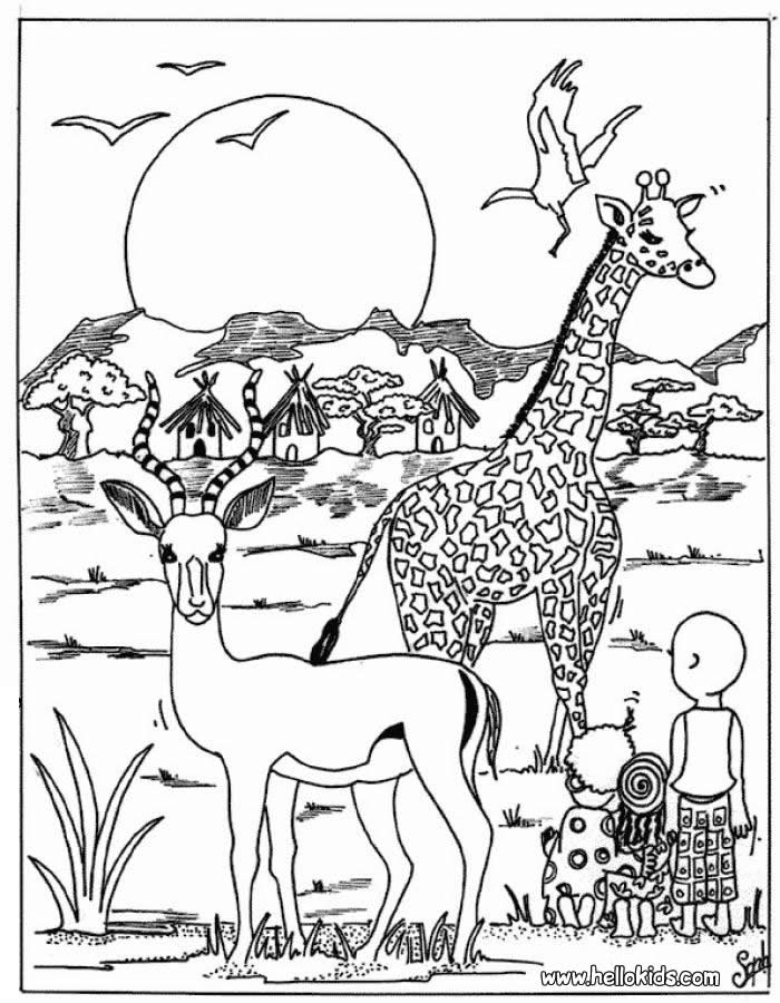 700x900 Printable Coloring Pages African Animals Coloring