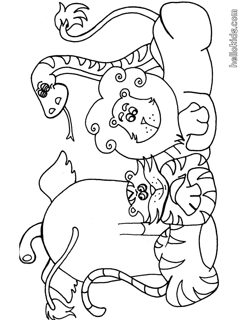 820x1060 Wild Animal Coloring Pages