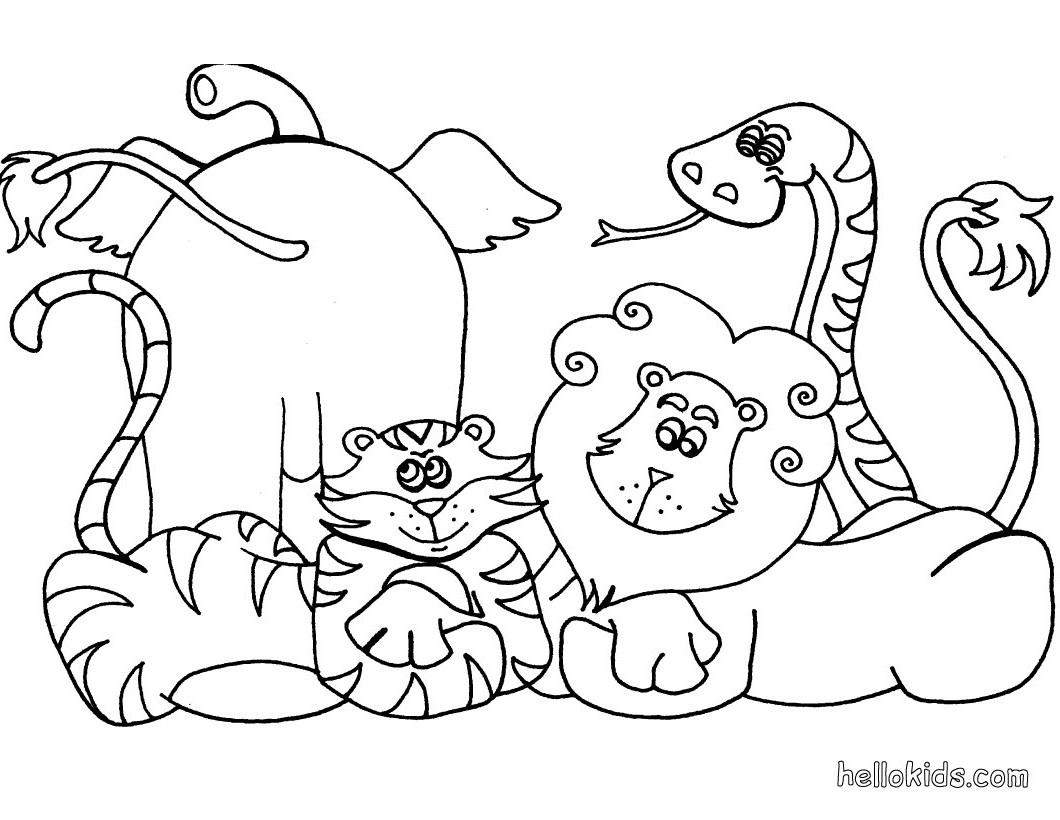 1060x820 African Animals Coloring Pages