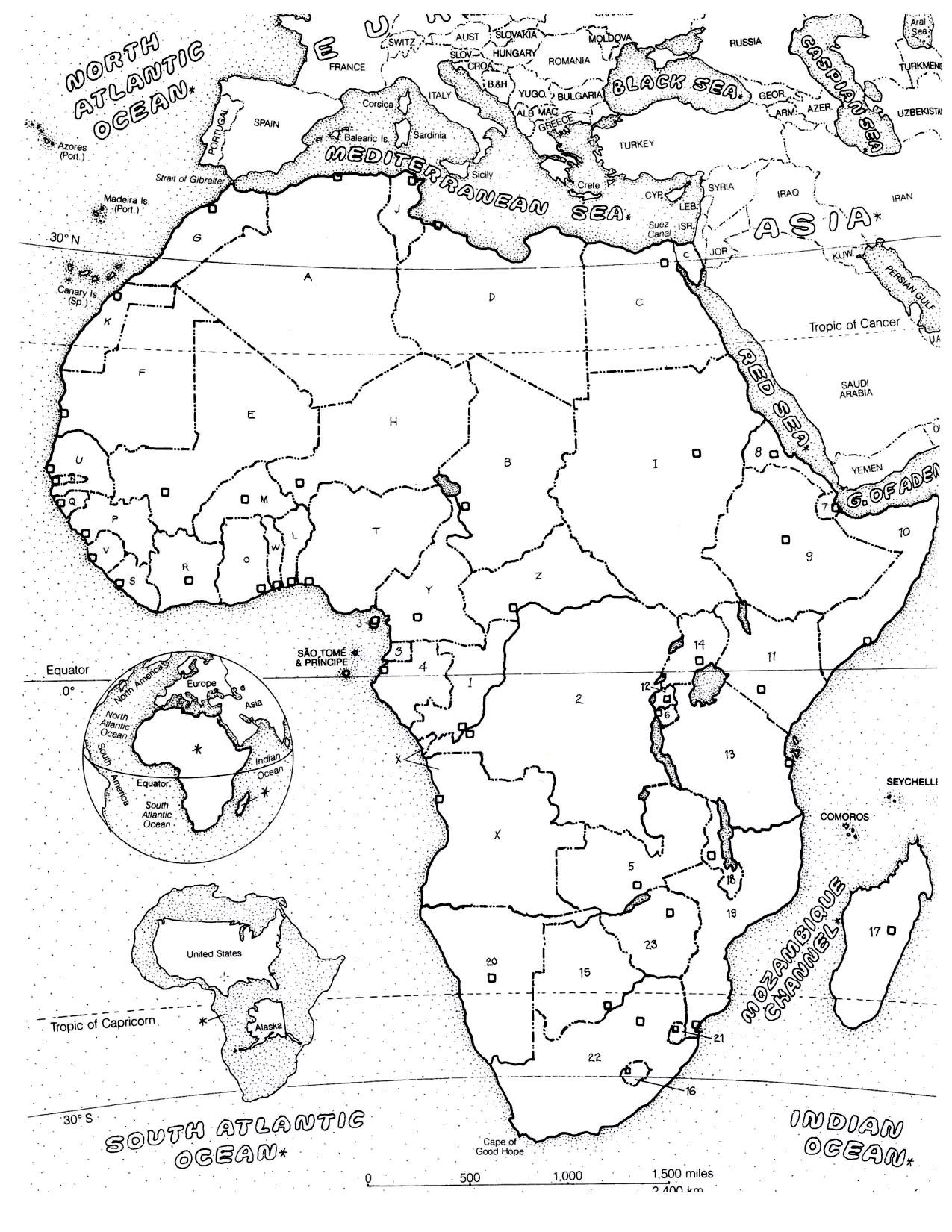 1275x1650 Africa Map Africa
