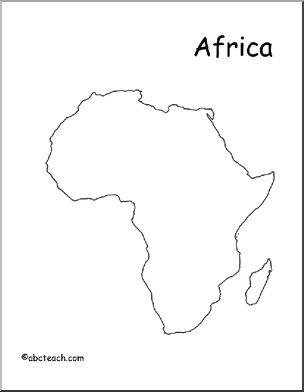 304x392 Map Africa (Outline) Abcteach