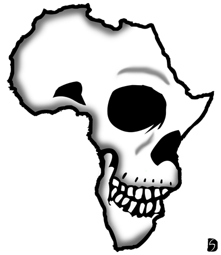 433x500 Latest African Continent Map Tattoos