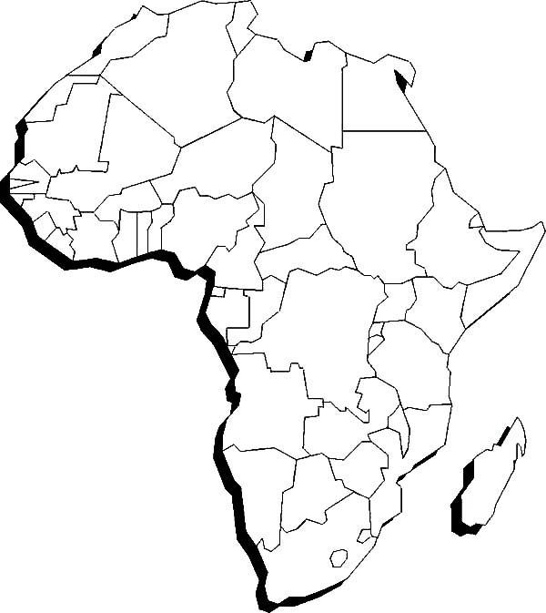 Map Of Africa Outline Printable.African Continent Drawing At Getdrawings Com Free For Personal Use
