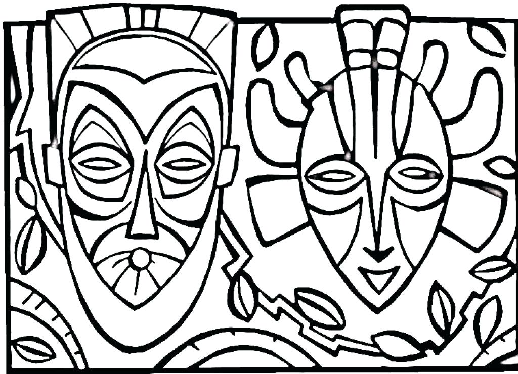 1024x740 African Coloring Pages Pin Coloring Page 6 African American